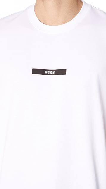 MSGM Termo Label Patch Tee