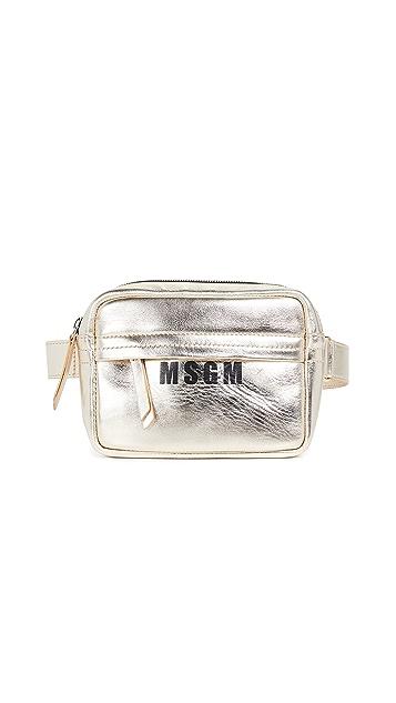 MSGM Плоская поясная сумка MSGM