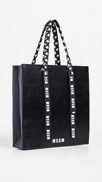 MSGM Большая объемная сумка-шоппер с короткими ручками Grand