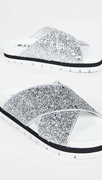 MSGM Crisscross Sandals
