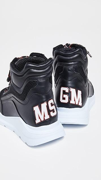 MSGM Кроссовки для бега Z с высоким берцем
