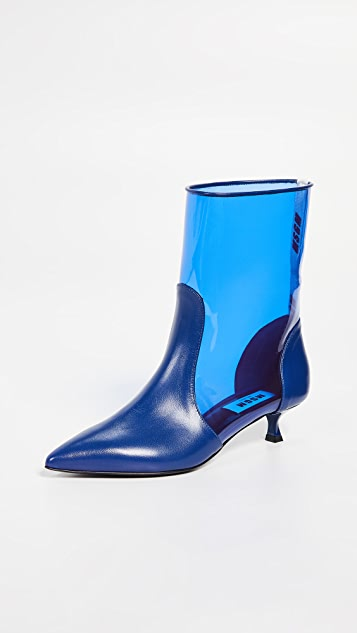 MSGM Pointy Ankle Booties