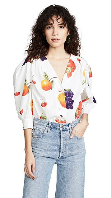 MSGM Puff Sleeve Fruit Top