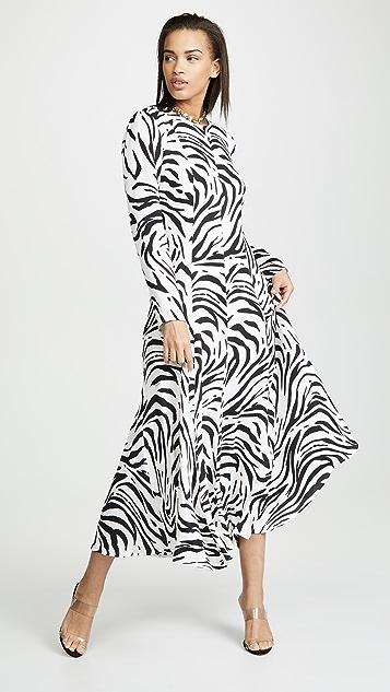 MSGM Макси-платье с принтом под зебру