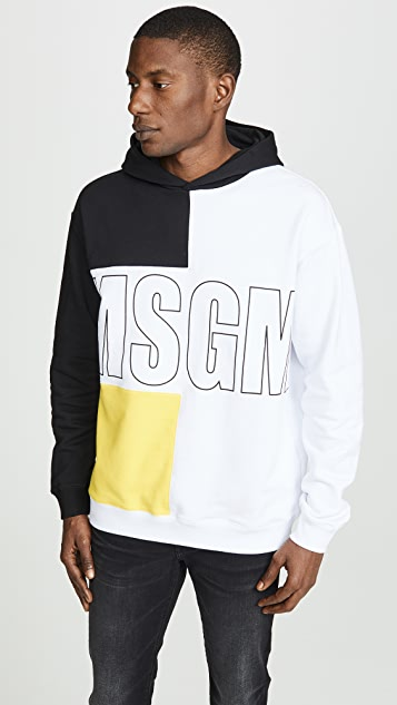 MSGM Colorblock Hoodie