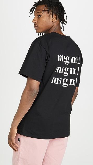 MSGM MSGM! Logo SS Tee