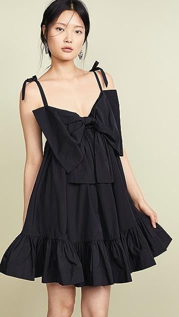 MSGM Платье с завязкой бантом