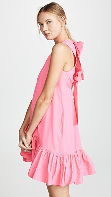 MSGM 低腰背面蝴蝶结连衣裙