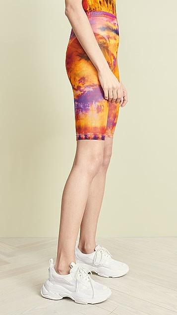 MSGM Tie Dye Bermuda Shorts