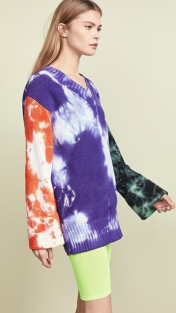 MSGM Свитер-платье в технике узелкового батика