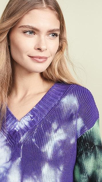 MSGM Tie Dye Sweater Dress
