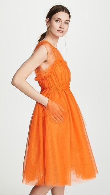 MSGM 荧光色蕾丝连衣裙