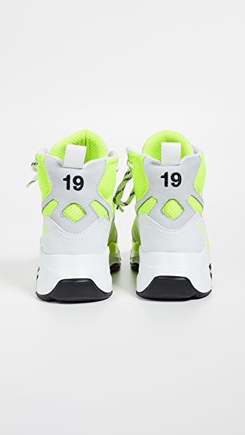 MSGM Attack Hi-Top Sneakers