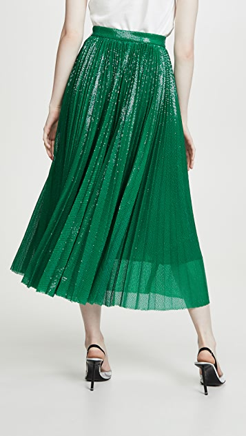 MSGM Pleated Sequin Skirt