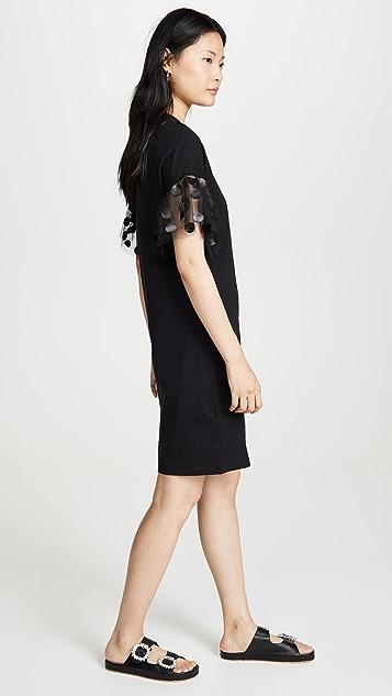 MSGM 薄纱袖连衣裙