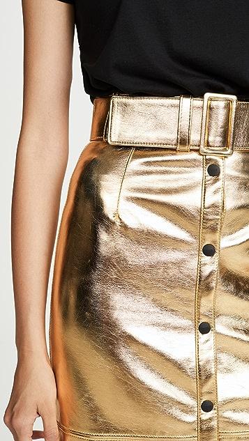 MSGM 金属色中长半身裙