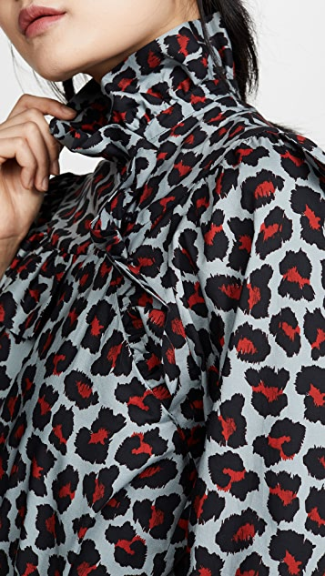 MSGM Блуза Leopard