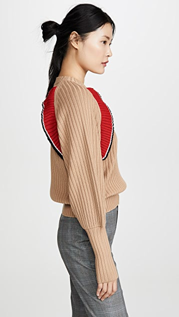 MSGM Пуловер с оборками