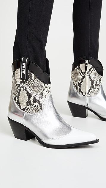 MSGM Cowboy 靴子