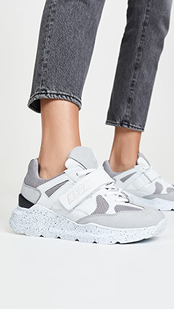 MSGM Strap Hiking Trainers