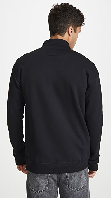 MSGM Quarter Zip Pullover Sweatshirt
