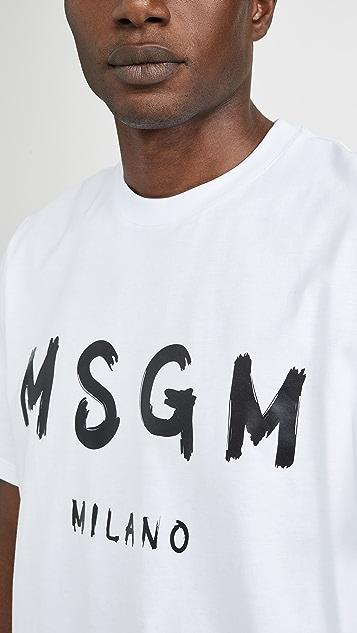 MSGM Msgm Milano Logo Tee Shirt