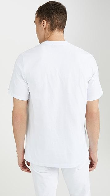 MSGM MSGM Big Box Logo Tee Shirt