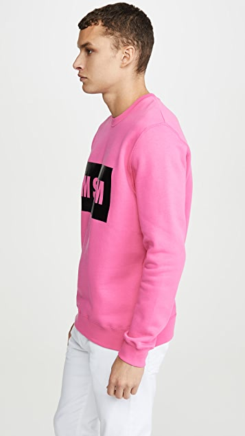 MSGM MSGM Big Box Logo Crew Neck Sweatshirt