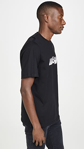 MSGM Upside Down Fast Logo Short Sleeve Tee Shirt