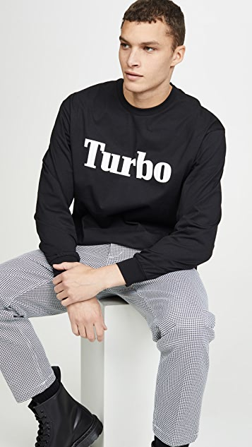 MSGM Turbo Long Sleeve Tee Shirt