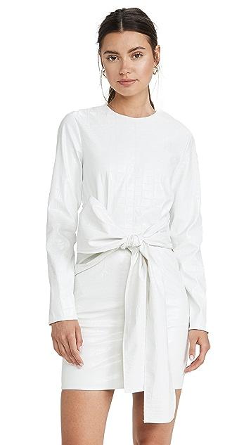 MSGM 腰部绑带连衣裙