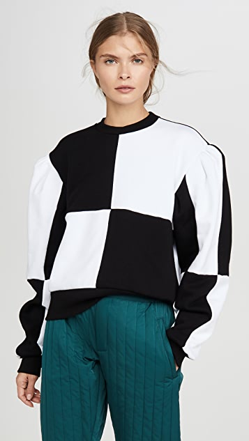 Msgm Knits Colorblock Pullover