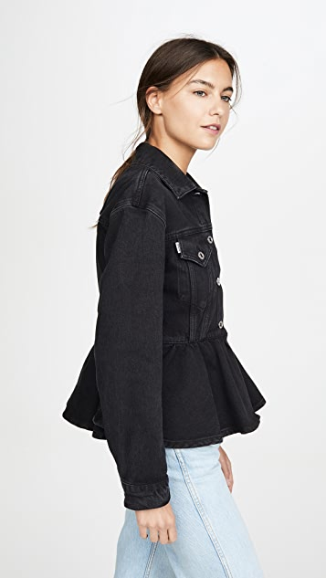 MSGM Denim Peplum Jacket