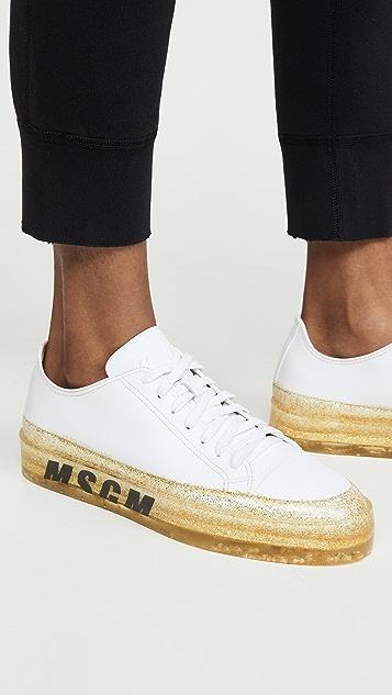 MSGM Кроссовки с блестками на подошве