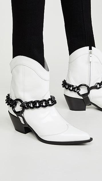 MSGM Ботинки до щиколоток с цепочкой