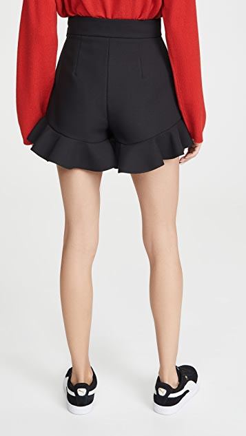 MSGM Ruffle Hem Shorts