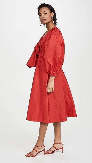 MSGM Bow Front Midi Dress