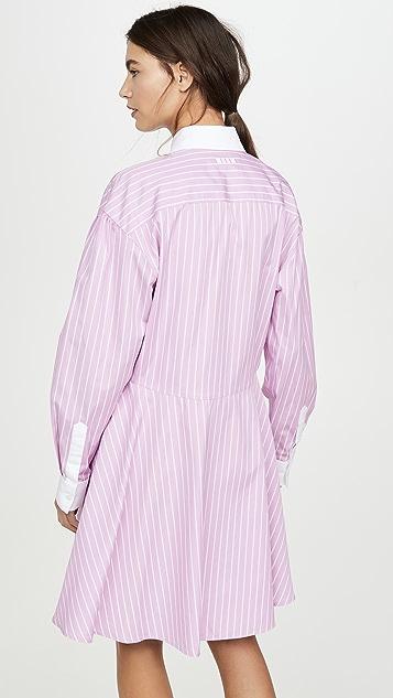MSGM Collared Shirt Dress