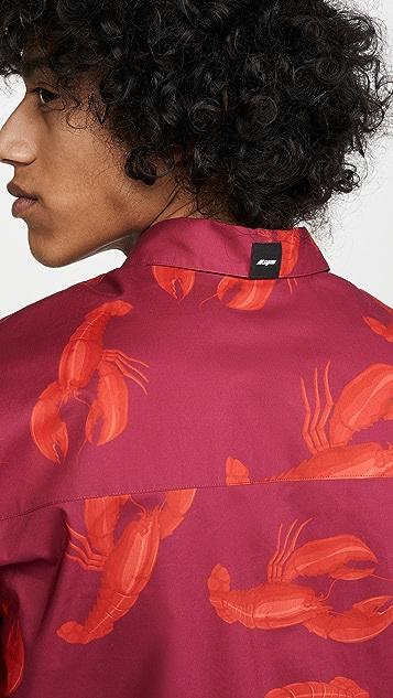 MSGM Lobster Print Short Sleeve Shirt