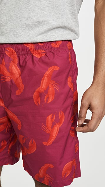 MSGM Lobster Print Shorts