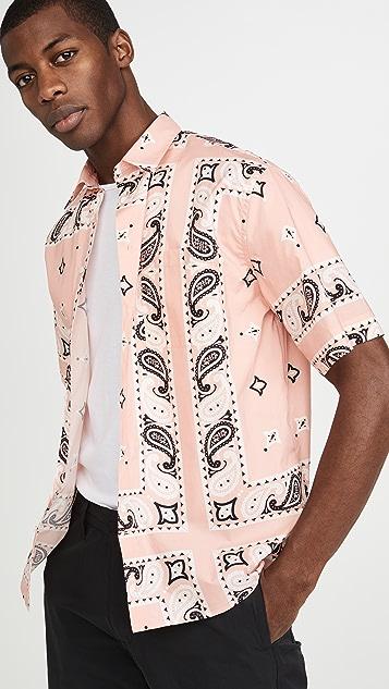 MSGM Large Paisley Short Sleeve Shirt
