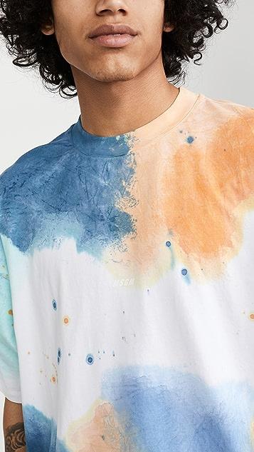 MSGM Tie-Dye Logo T-Shirt