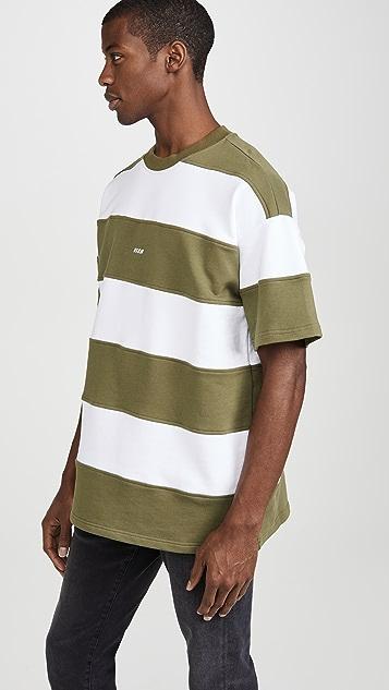 MSGM Oversized Large Stripe T-Shirt