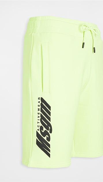 MSGM Logo Sport Shorts