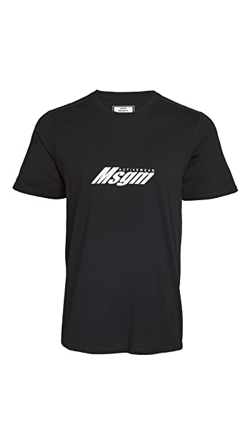 MSGM Logo Sport Tee Shirt