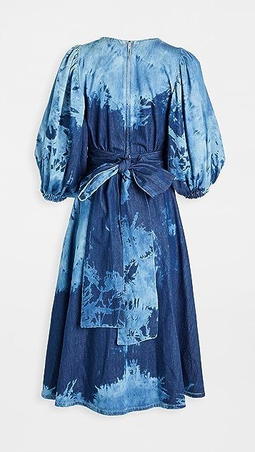 MSGM Denim Midi Dress