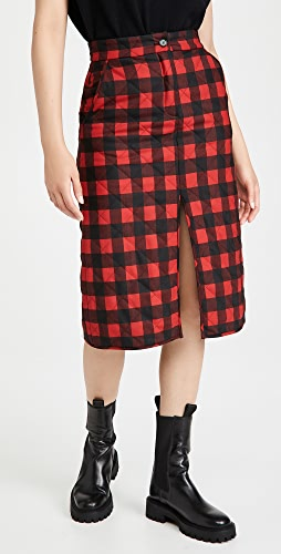 MSGM - Checked Midi Skirt