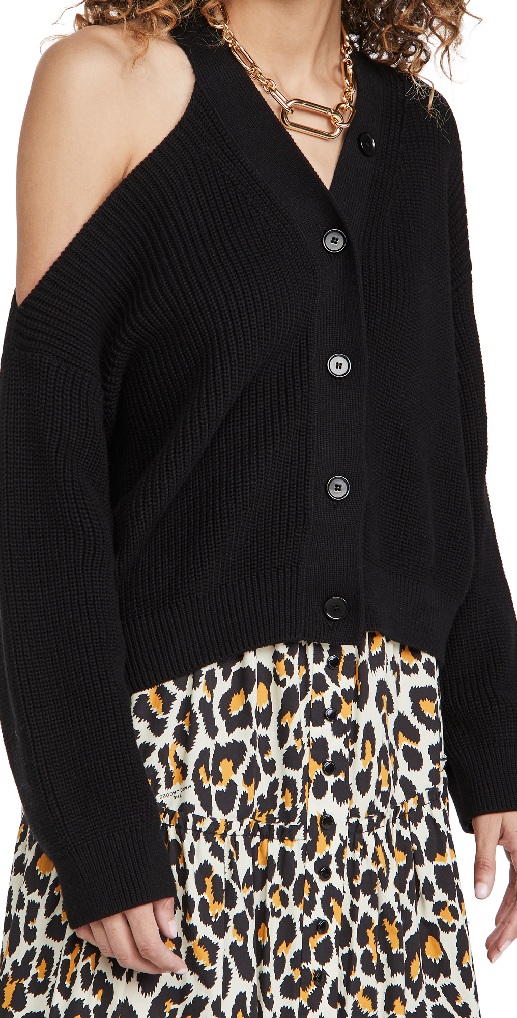 MSGM Cutout Shoulder Cardigan