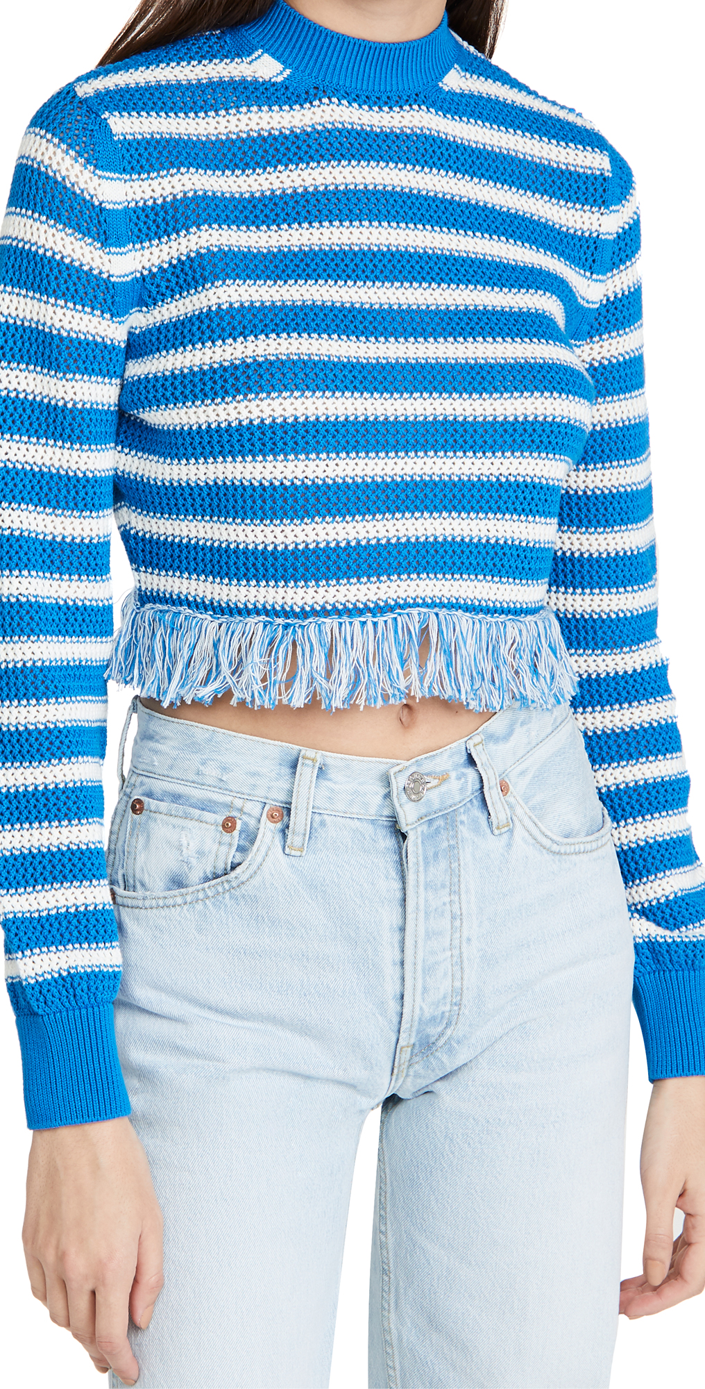 MSGM Fringe Sweater