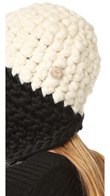 Mischa Lampert Fro Tri Two Tone Pom Hat